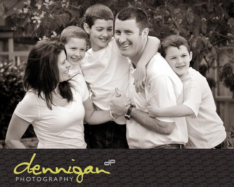 Family Portrait Black & White